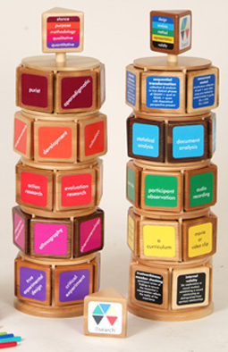 twin towers made from carousels and blocks